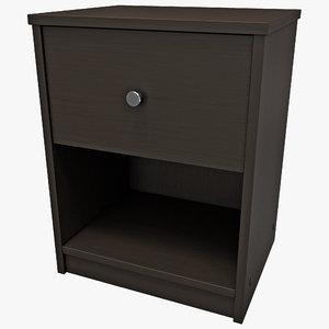 nightstand tvilum portland table design 3d model