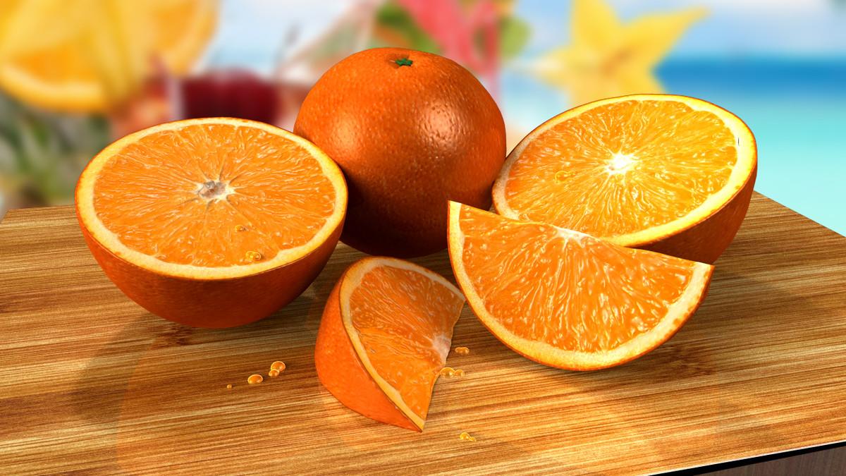 3d oranges model