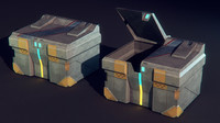garbage bin science fiction 3d model