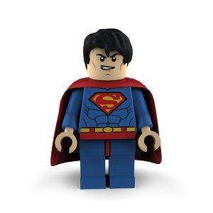 3ds max superman super heroes lego
