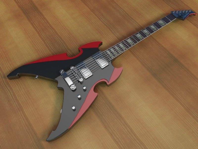 silvertone apocalypse special electric guitar 3d 3ds