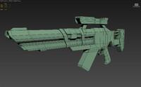 3ds max sniper rifle