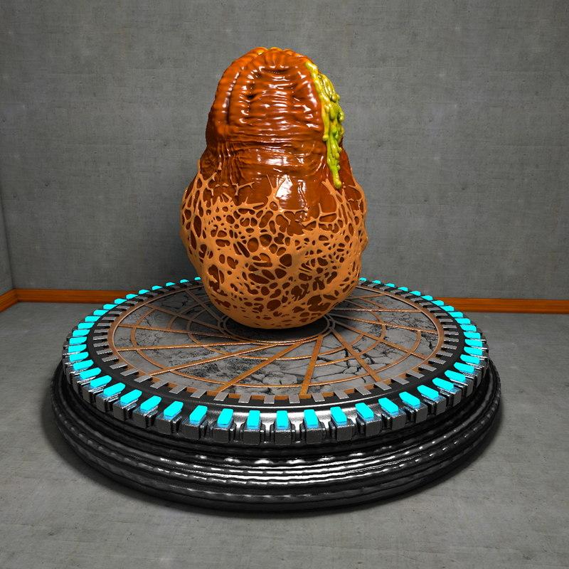 slimy alien egg presentation obj