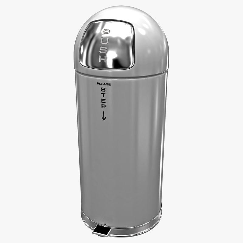 steel step-on dome receptacle lwo