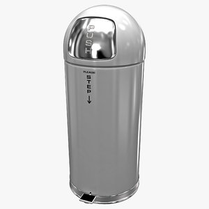 steel step-on dome receptacle lwo