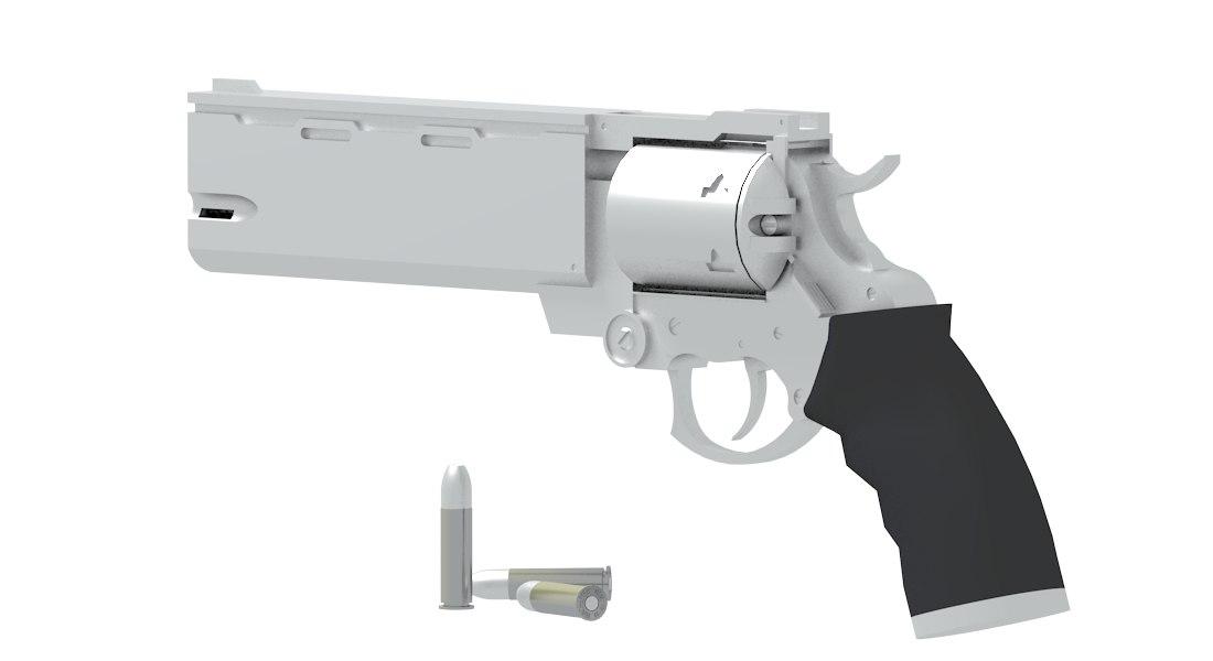 revolver trigun 3d max