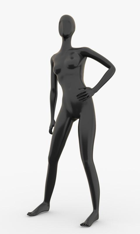 3d model of slim female mannequins