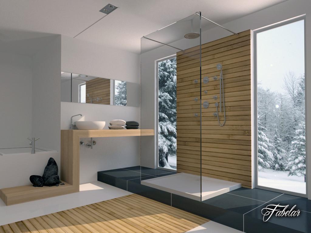 bathroom scene 3d 3ds
