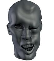 3d man head