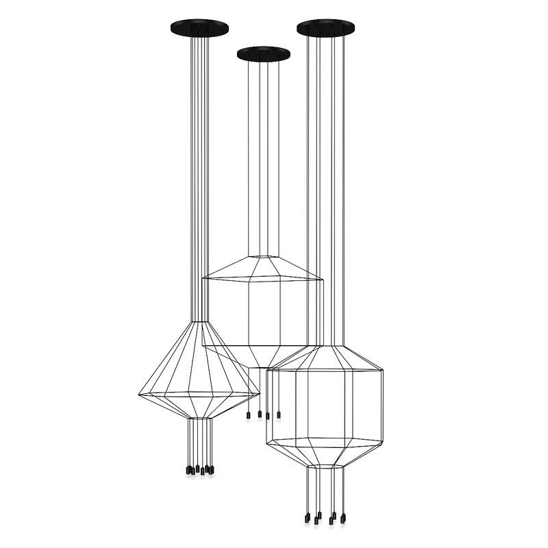 ceiling lamp set 3d model