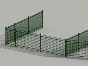 fence cloture valla 3d model