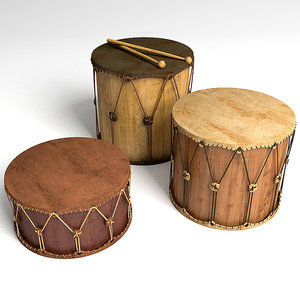 3d model of drums set