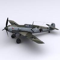 german jg 52 bf-109 3d max