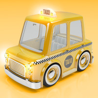 Cartoon Taxi Cab