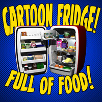 3d cartoon refrigerator