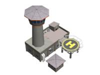 3dsmax guard house warehouse