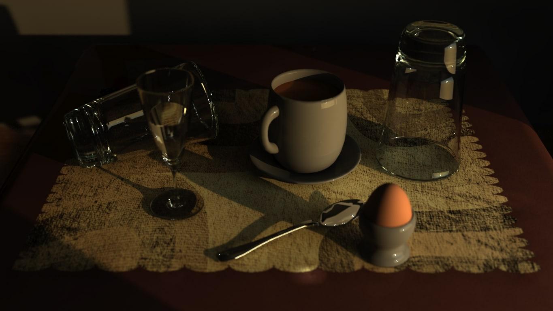 3d model coffe scene