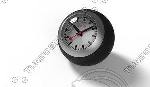 mondaine globe clock obj
