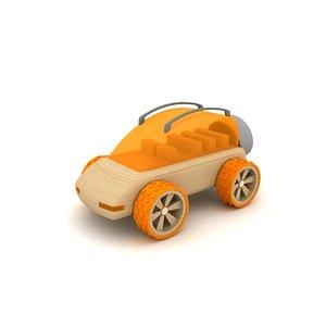 wooden toy car 3d 3ds