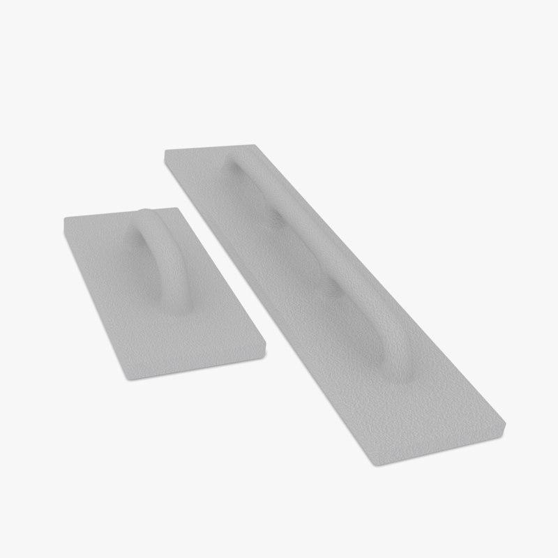 3d styrofoam grout float model