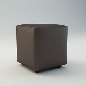 3d leather pouf model
