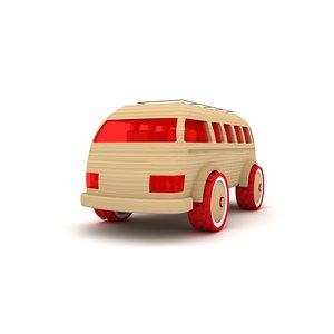3d model wooden toy car