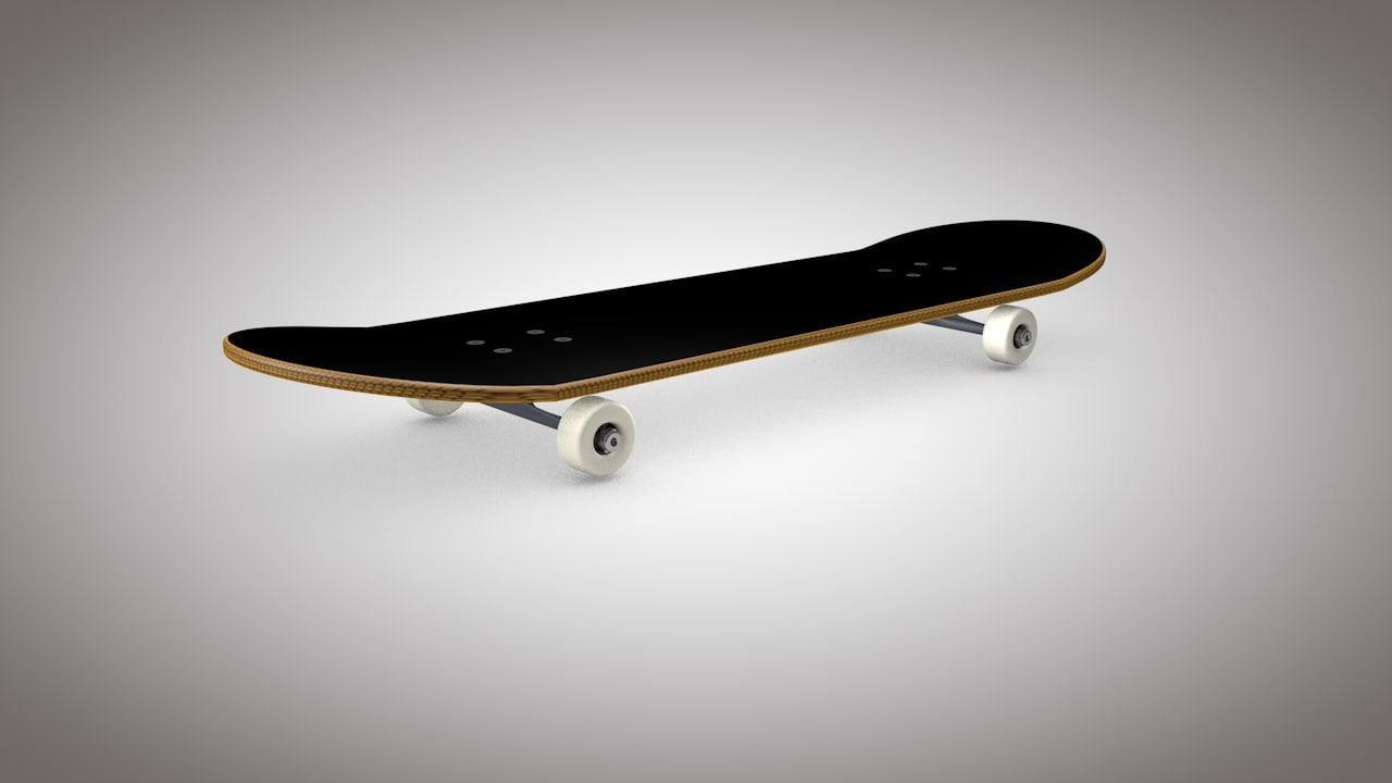 3dsmax simple skateboard