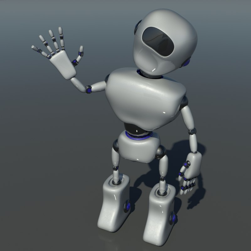 3d robot animation
