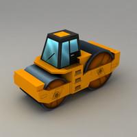 asphalt roller 3d model