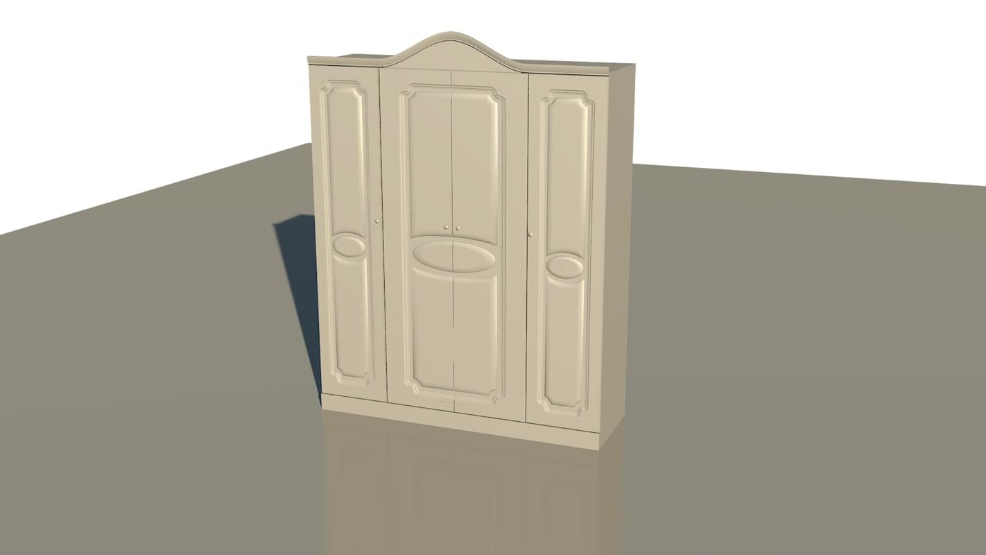 cabinet locker cupboard 3d model