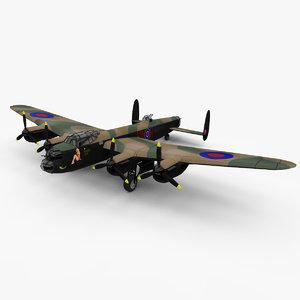 3d model of avro bomber