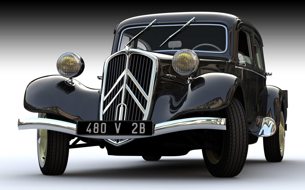 citroen traction avant 3d model