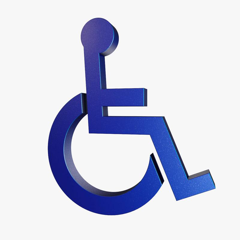 3d wheelchair symbol