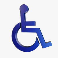 3d wheelchair symbol