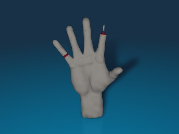 c4d zombie rigged hand