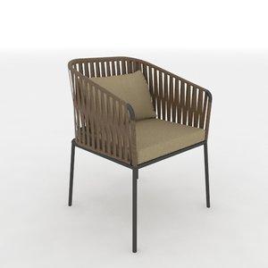 3dsmax kettal bitta arm chair