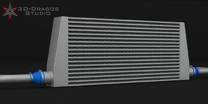 cooler intercooler car-intercooler 3d model