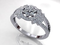 Sun Star Diamond Ring