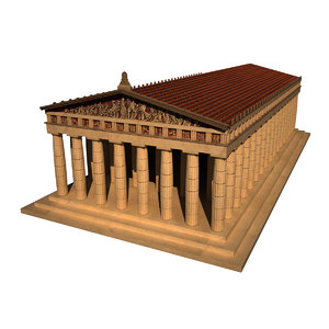 tennessee parthenon 3d max
