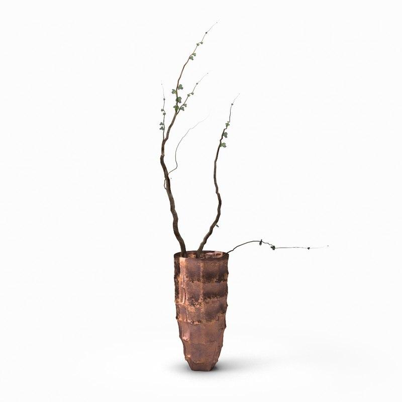 metal vase 3d model
