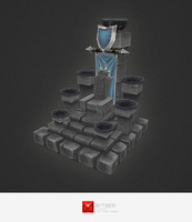 Low Poly RTS Human Throne