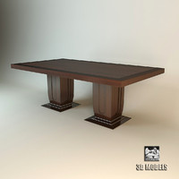3d model baker dinner table