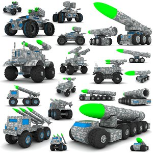 military wooden toy 3d model