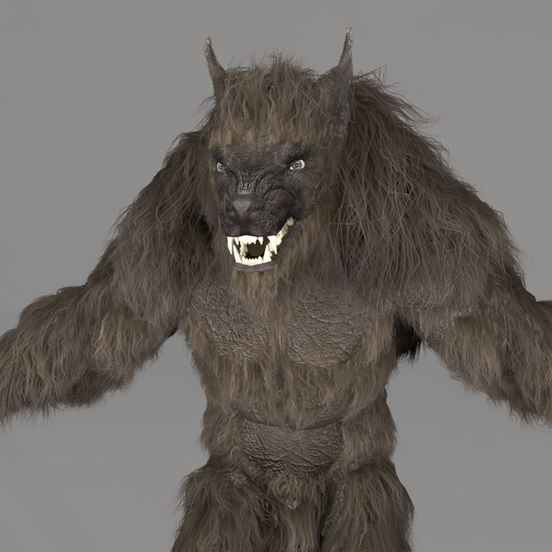 3d model werewolf monster creature
