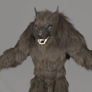 3d model werewolf monster creature