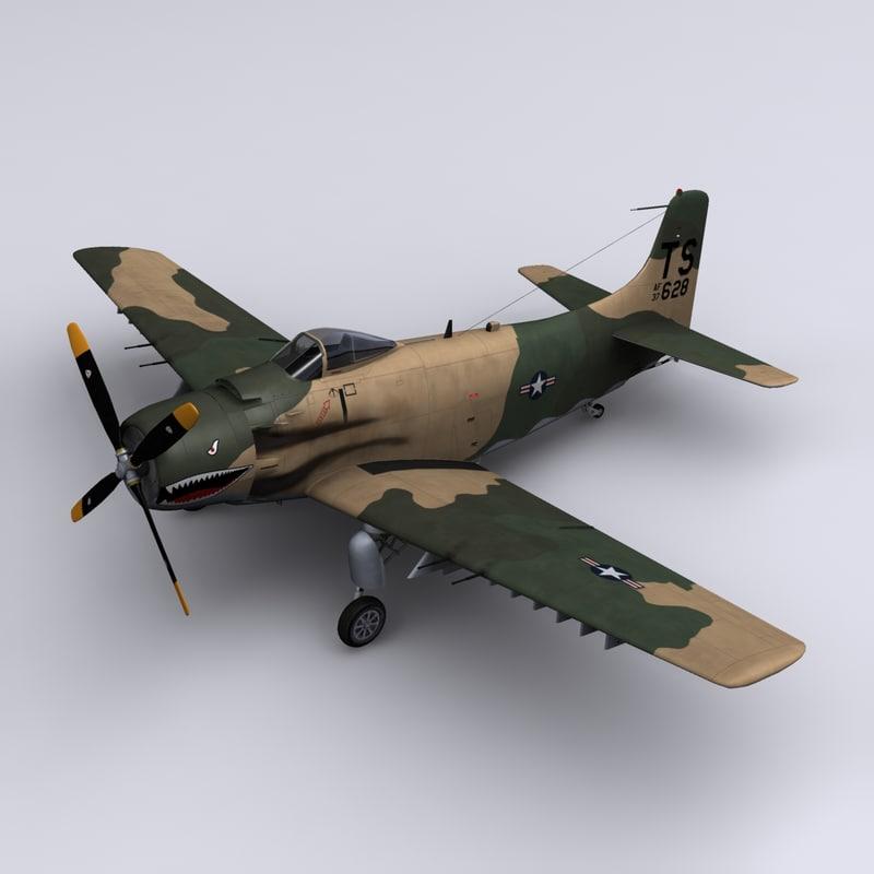 obj skyraider a-1h 56th da