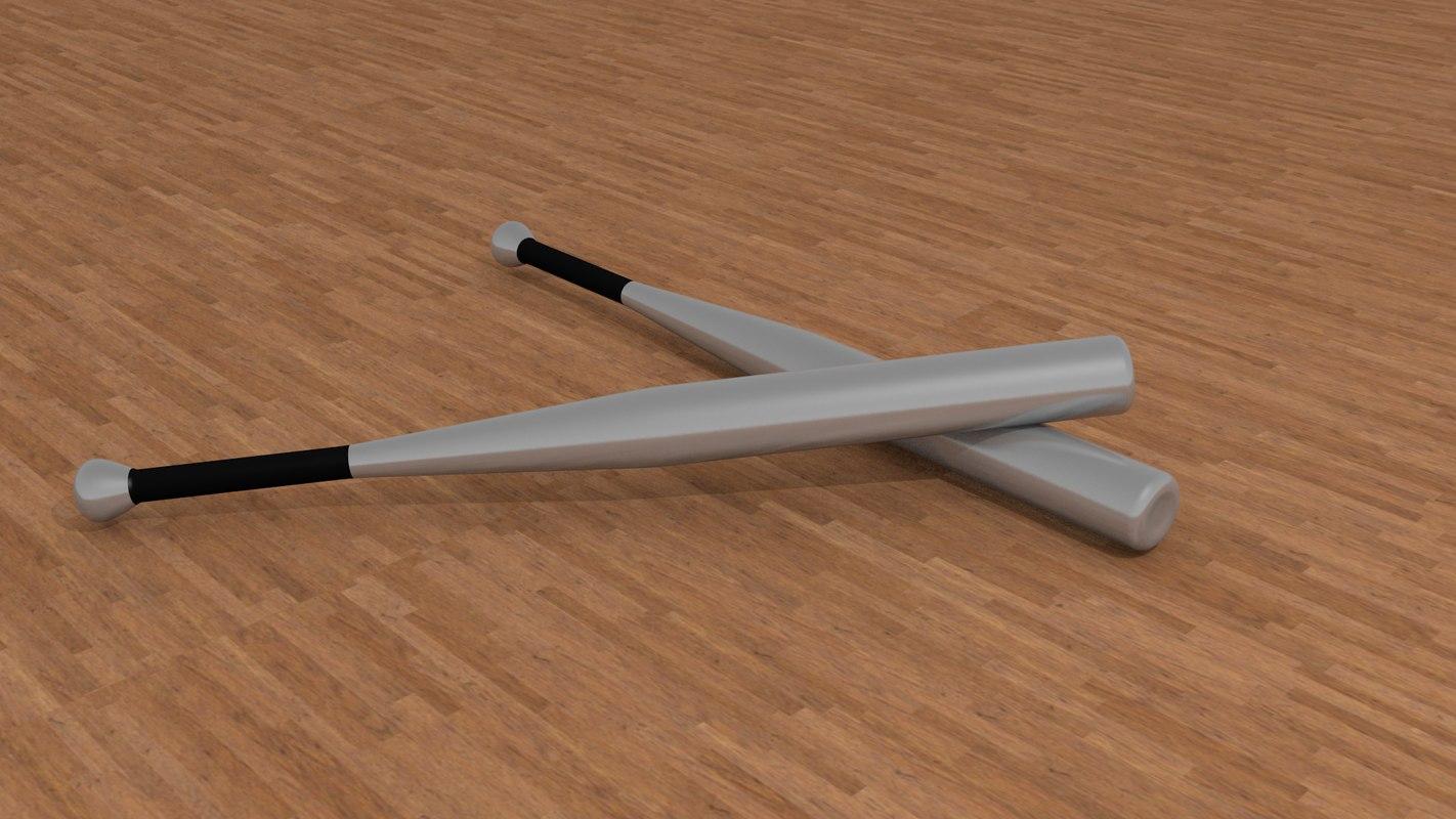 3d aluminium baseball bat model