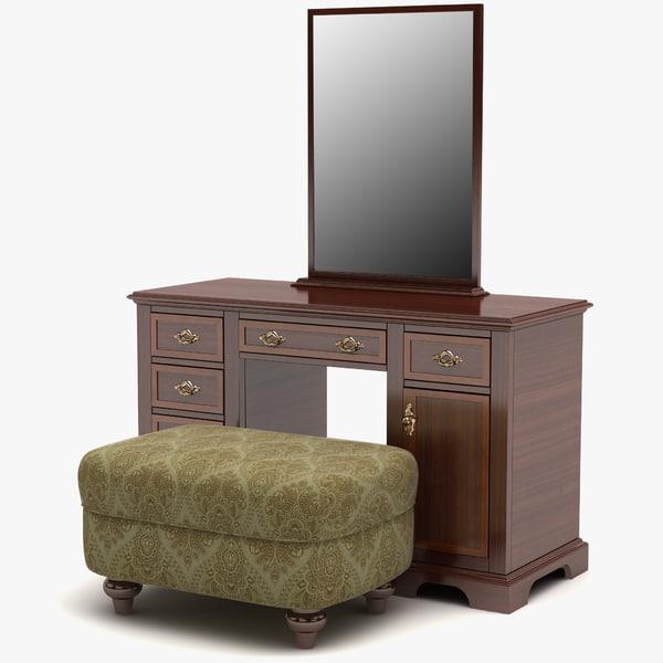 Modele 3d De Dressing Table De Maquillage Turbosquid 756983