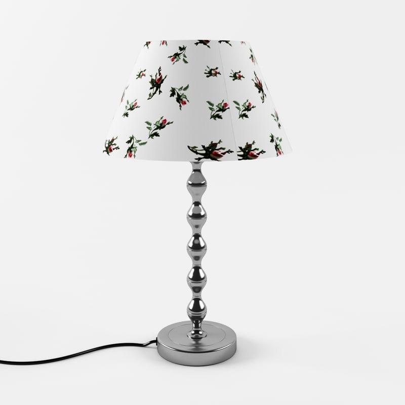 3d ikea emmie blom lamp
