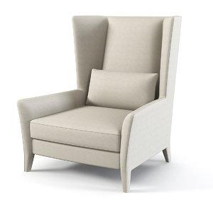3d max fendi wing chair